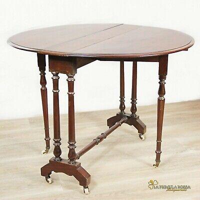 Tavolino Tavolo Antico A Bandelle Da Salotto Per Soggiorno In Legno Pieghevole Ebay
