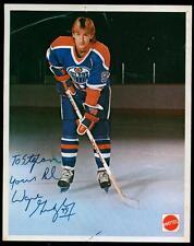 Vintage 1980's Wayne Gretzky Mattel Signed Autographed Edmonton Oilers Photo !