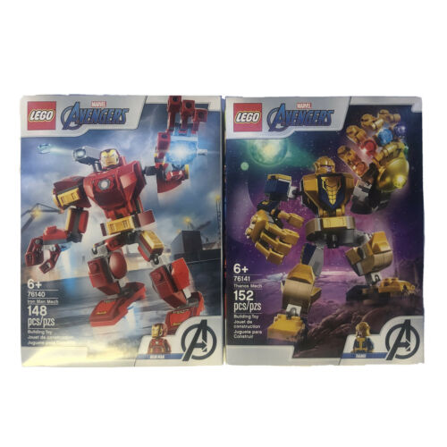 Lego 76140 76141 Marvel Avengers Thanos and Iron Man Mech Sets New Unopened