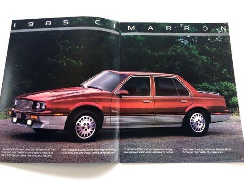 1985 Cadillac Cimarron Oro Sales Brochure Book Catalog