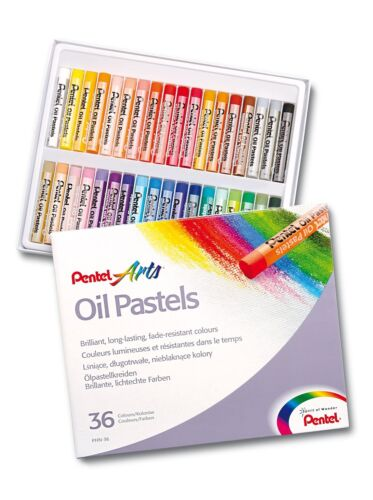 Oil Pastels by Pentel Artists pastels Pack of 36 Vivid Colours