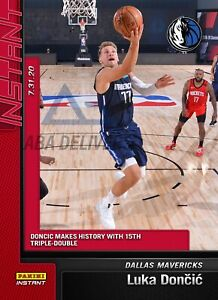 2019-2020-Luka-Doncic-132-Panini-Instant-Makes-History-15th-Triple-Double-794