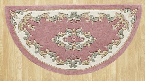 Tusaro Aubusson Rose Pink Wolle Teppich in verschiedenen größen halbmond