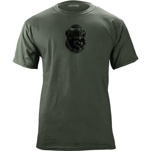 Vintage Army Salvage Diver Badge Subdued Veteran T-Shirt