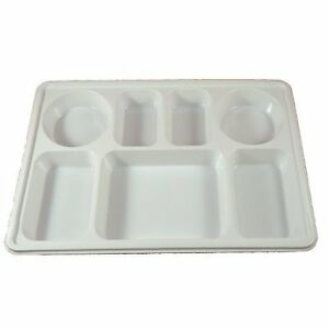 10 Compartments Silver Disposable Party Tray Thali Langar Plates 50 Pack