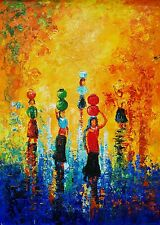 Indian Oil Painting  On Canvas, Textured, Palette Knife, Life, Impressionism.