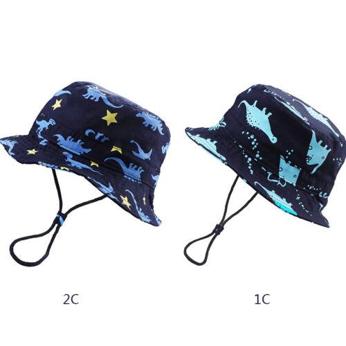 Baby Boy Dinosaur Cotton Sun Hats with Chin Strap /& Caps Navy Dino  Adjustable