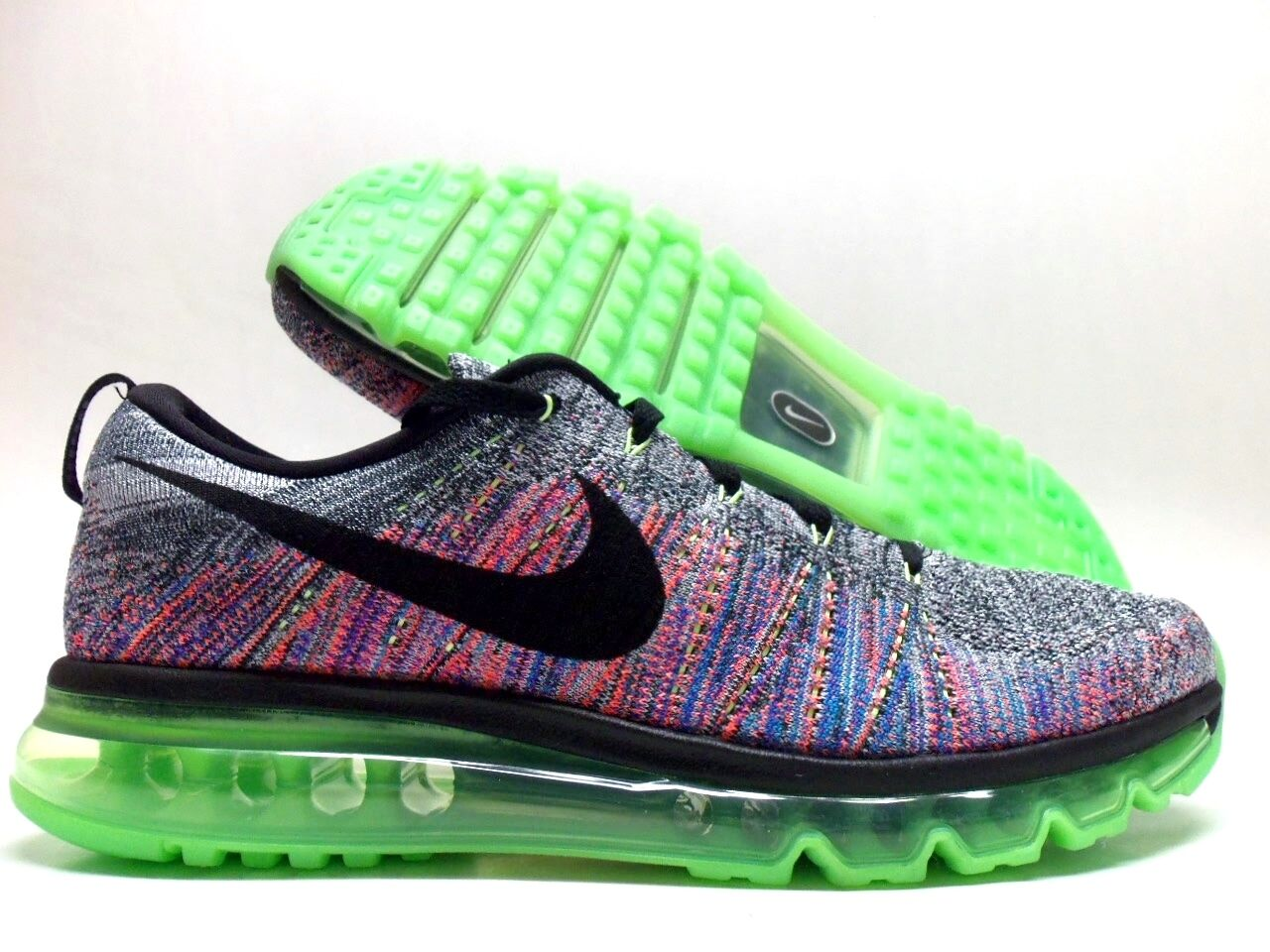 a01b49725a9d Nike Men Flyknit Max Multi-color White black-ghost Green Sz 14 ...