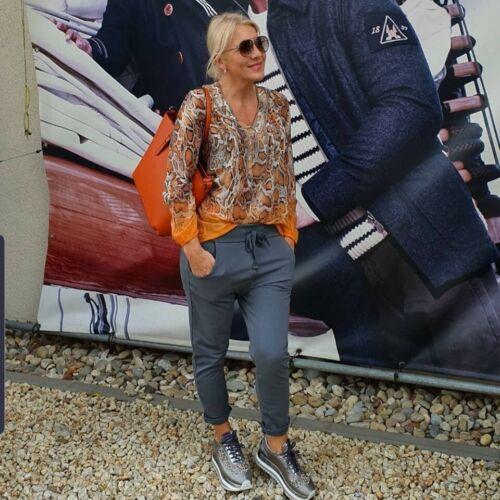 Damen Jogging-Freihzeit Hose ´ Wendy Trendy´ Farbe Anthrazit Grau