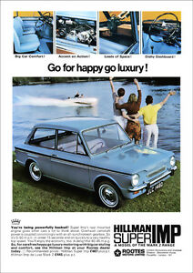 Image is loading HILLMAN-SUPER-IMP-RETRO-A3-POSTER-PRINT-FROM-