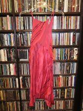 Victoria's Secret semi sheer Silk Nightie Gown Nightgown Fuchsia Strip L (bin54)