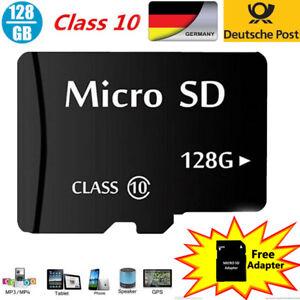 128GB Micro SD - Memorycard mit Adapter Class 10 NEU & OVP Expressversand aus DE