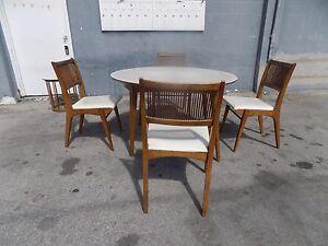 Super Details About Rare Iconic Mid Century Modern Drexel Parkwood Dining Set By John Van Koert P Dailytribune Chair Design For Home Dailytribuneorg