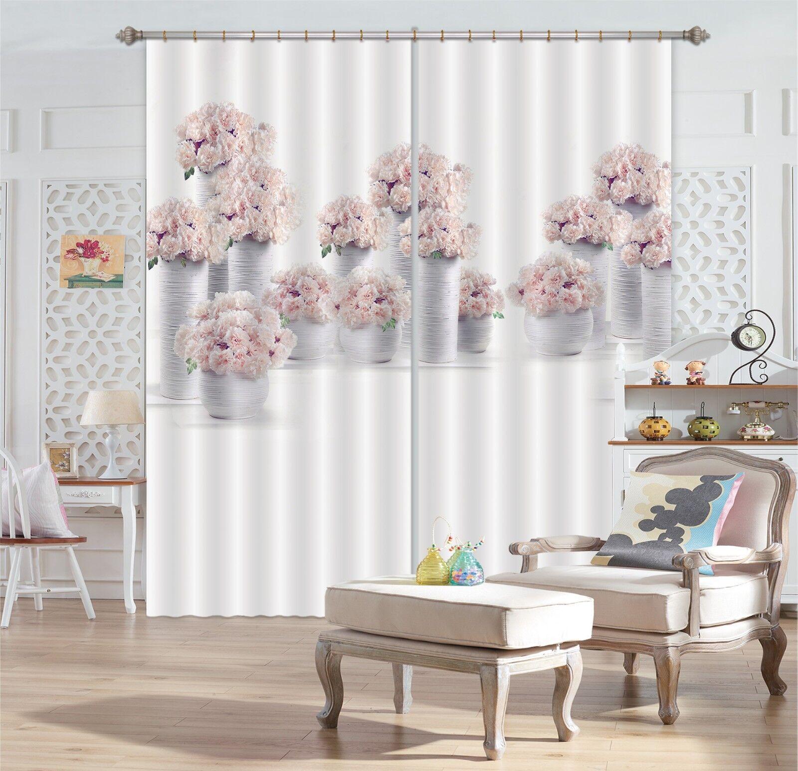 3D blanco vase 6 Blockout Photo Curtain Printing Curtains Drapes Fabric Window AU