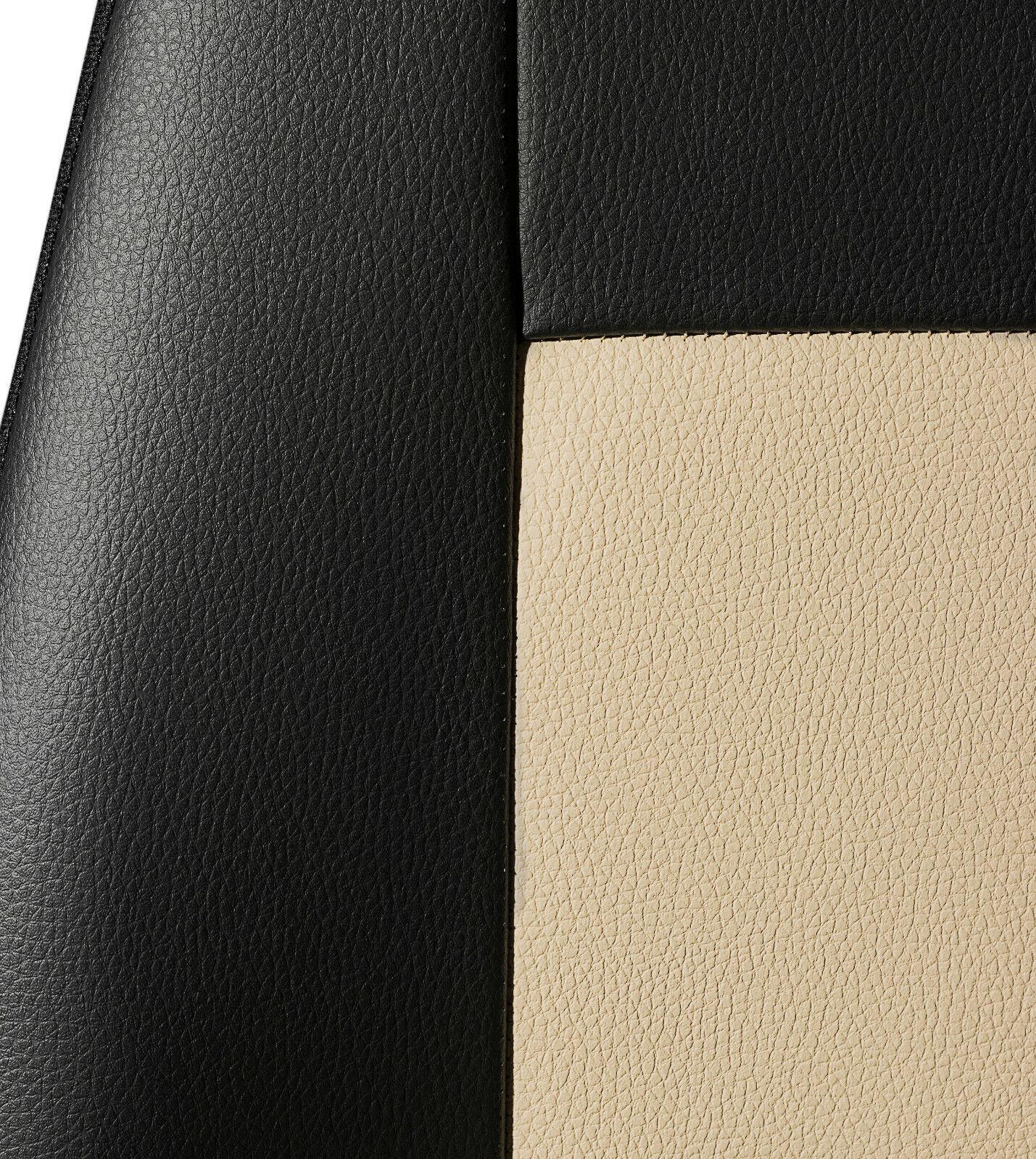 Premium Universal Autositzbezüge Sitzbezüge Kunstleder Schonbezüge Beige