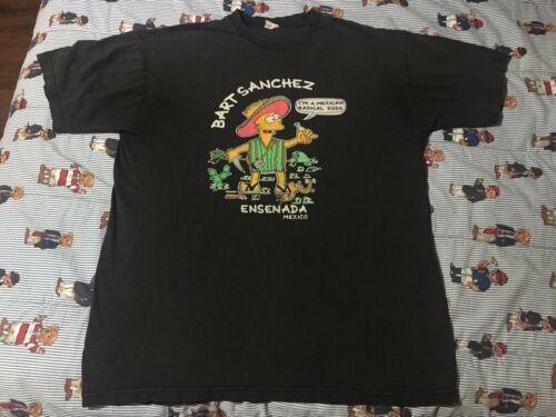 Vintage 90s Bootleg Bart Simpson Mexico The Simpso
