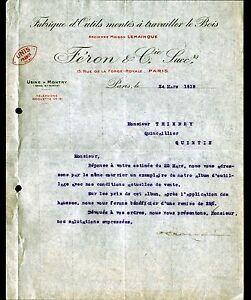 PARIS-XI-USINE-de-MONTRY-77-OUTILS-a-bois-034-LEMAINQUE-FERON-Succ-034-en-1919