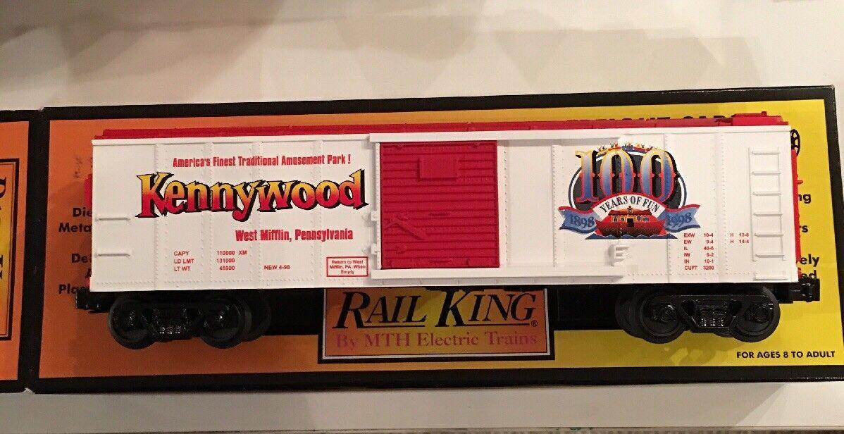 Railking 30-74052 Kennywood Park Box Car MTH MINT CONDITION NIB