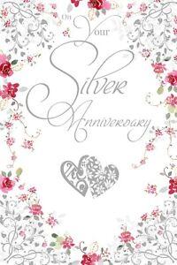 Immagini Per Anniversario Di Matrimonio.Argento Biglietto Per Anniversario Di Matrimonio 25 Anni Pozzo