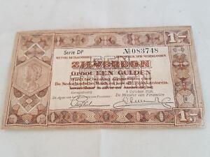 Le Prix Le Moins Cher Billet Pays-bas 1 Zilverbon De 1938-afficher Le Titre D'origine Qualité Et Quantité AssuréE