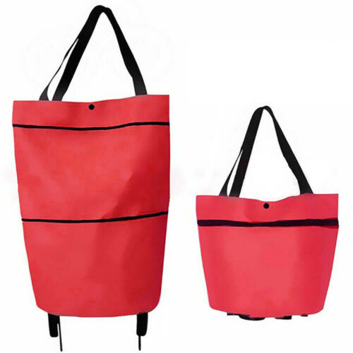 Portable Unisex Folding Shopping Bags Trolley Cart On Wheel Reusable Handbag Bag
