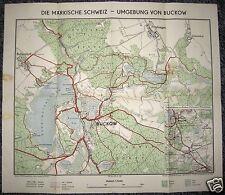 Wanderkarte, Märkische Schweiz, Buckow und Umgebung, um 1956