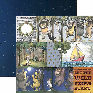 Paper House WHERE THE WILD THINGS ARE 12x12 Dbl-Sided Cardstock 3x4 4x6 Cards