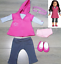 American-Girl-Doll-Clothes-STAR-HOODIE-MEET-OUTFIT-Tunic-Leggings-Shoes-Panties thumbnail 1