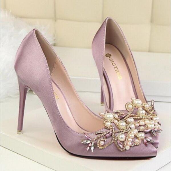 Decolte zapatos  eleganti púrpura perle tacco 10 stiletto pelle sintetica CW111