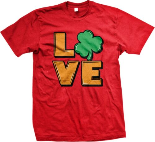 Mens T-shirt Love Clover Irish Ireland Funny St Patrick/'s Day Sayings