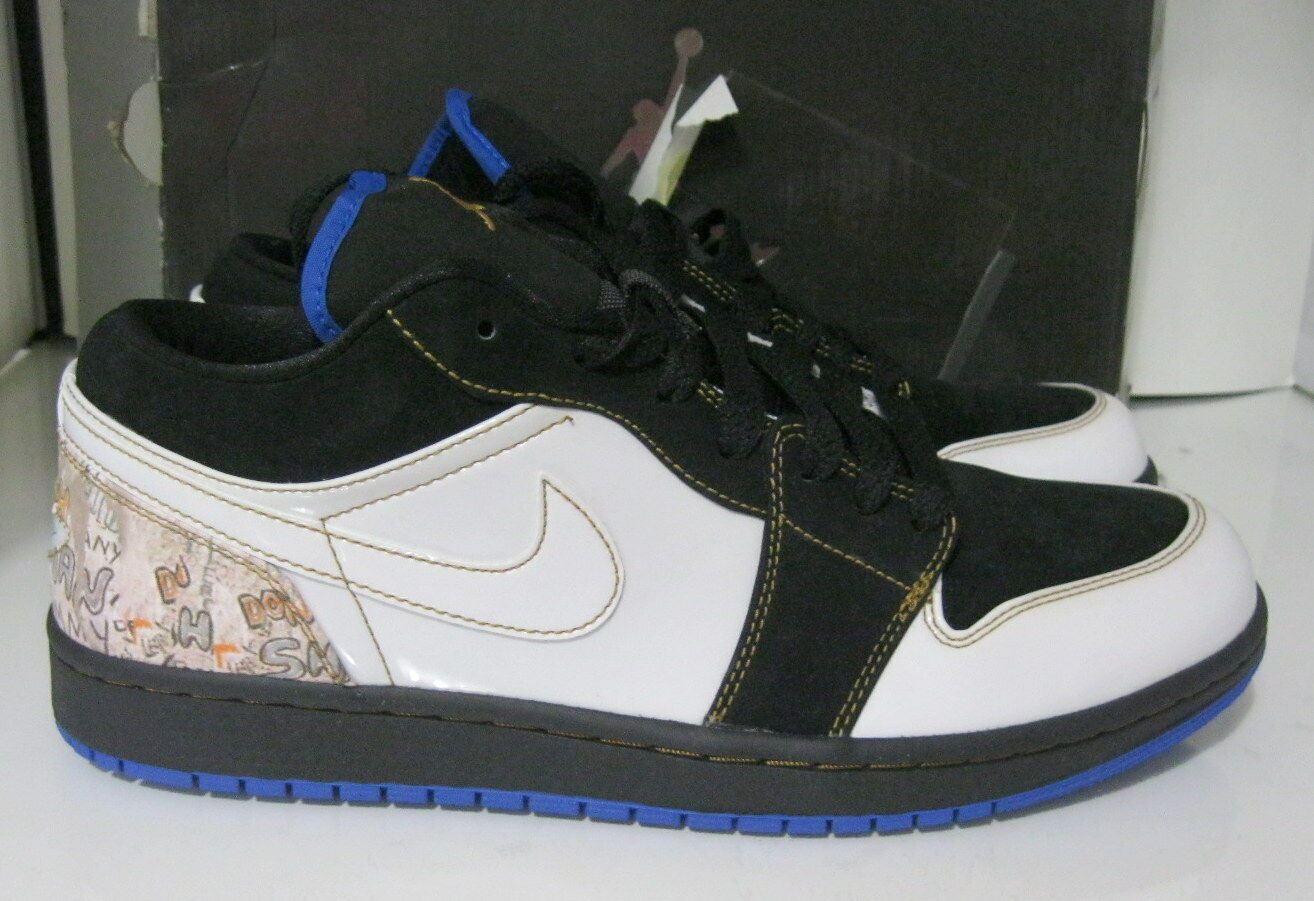 new Nike Air Jordan noir 1hat faible 338145 001 001 001 noir Jordan blanc 857b5d
