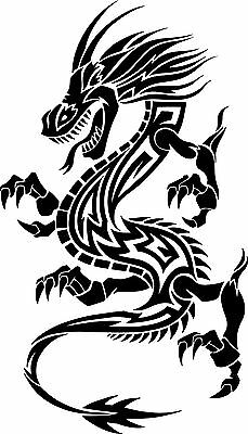 (Nr165)TRIBAL DRAGON TATOO DECAL VINYL STICKER HOOD LAPTOP WALL WINDOW TRUCK CAR
