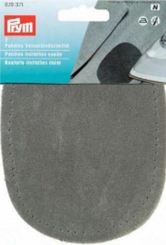 Goldzack gamuza de cuero de imitación Patch aplicación parchear aufbügler 929371 gris