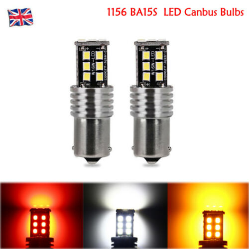 2X BA15S 1156 15SMD P21W LED Car Canbus Bulbs Indicator Signal Front Rear Lights