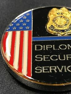 DIPLOMATIC SECURITY SERVICE DSS United Nations General 2017 UNGA PIN TIE TAC
