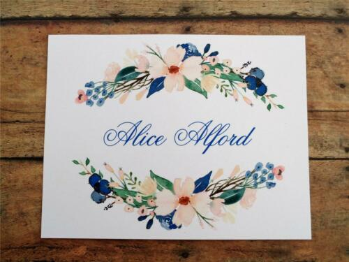 Flowers ~ NOTE CARDS Personalized Custom Thank You Stationery Great Gifts