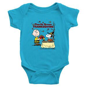 Charlie-Brown-Snoopy-Thanksgiving-Classic-Infant-Baby-Rib-Bodysuit-Newborn