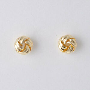 a99321434 Details about Gold Rose Gold Love Knot Earrings // Bridal Gifts // Bridesmaid  Gifts // Wedding