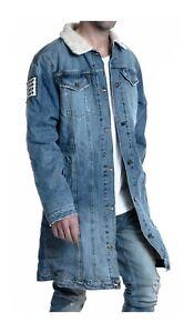 Blue Long Sherpa Jacket Long Sherpa Single 8q0wx16