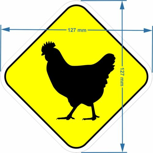 2 fun chicken bumper kitchen wall stickers car emmerdale fridge sign hen decal