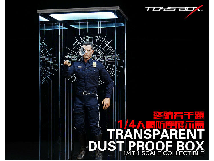 TOYS-Box TB068-T 1 4 Terminator Transparent Dust-proof Display Box