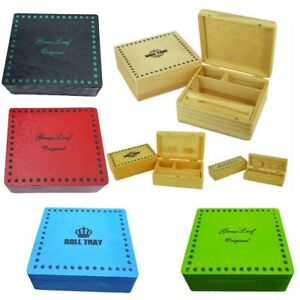 Cigarette-Box-Smoking-Tobacco-Wooden-Rolling-Box-Grassleaf-Roll-Gift-Storage-New