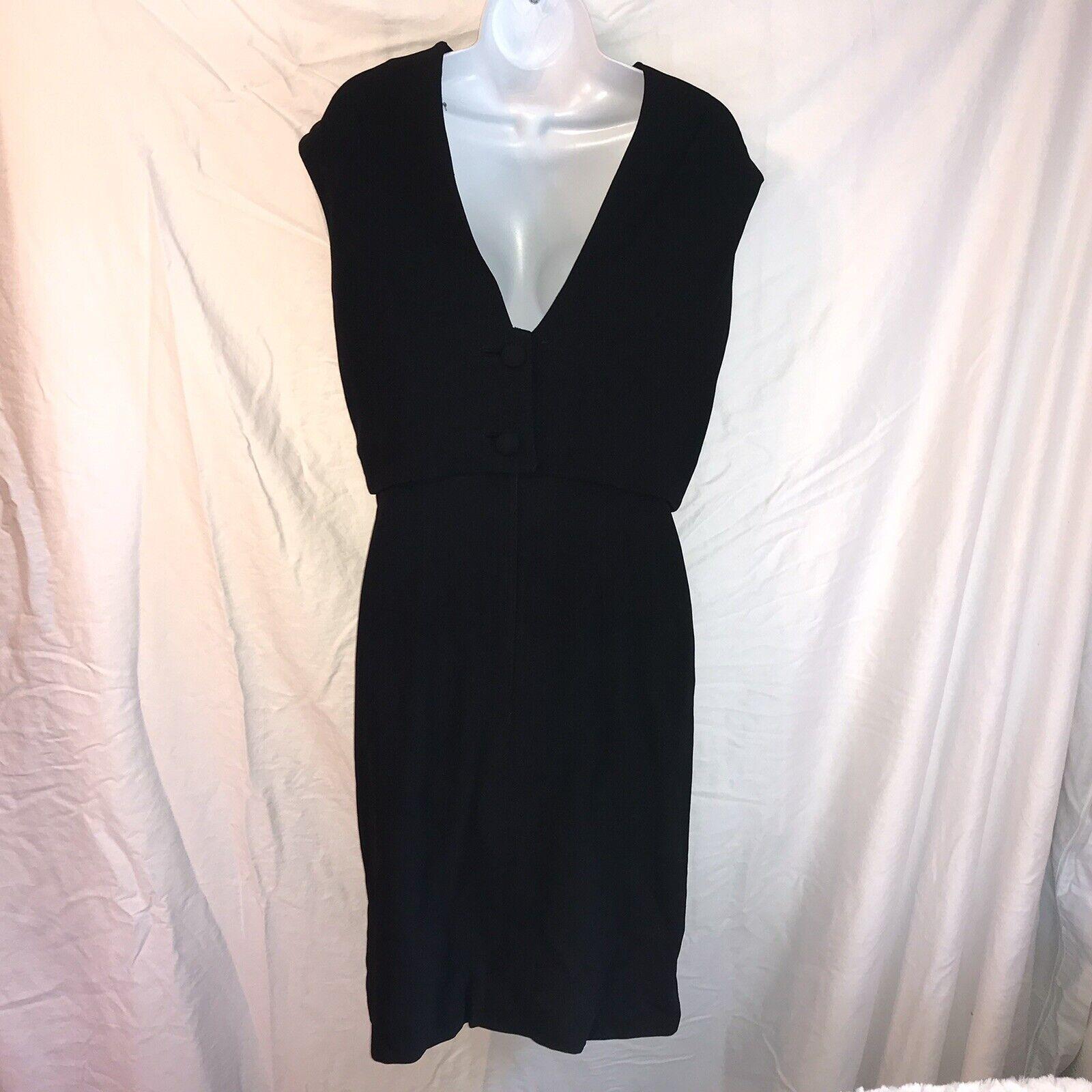 Ceil Chapman Vintage Black Dress - image 2