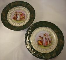 """Two Neo-Classical Victoria Carlsbad Kaufmann 8.5"""" Plates Goddesses Muses Nymphs"""