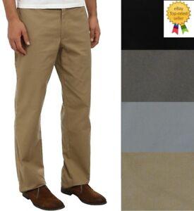 Croft Barrow Mens Poplin Pants Classic Fit Flat Front size 30 32 34 36 38 40 NEW