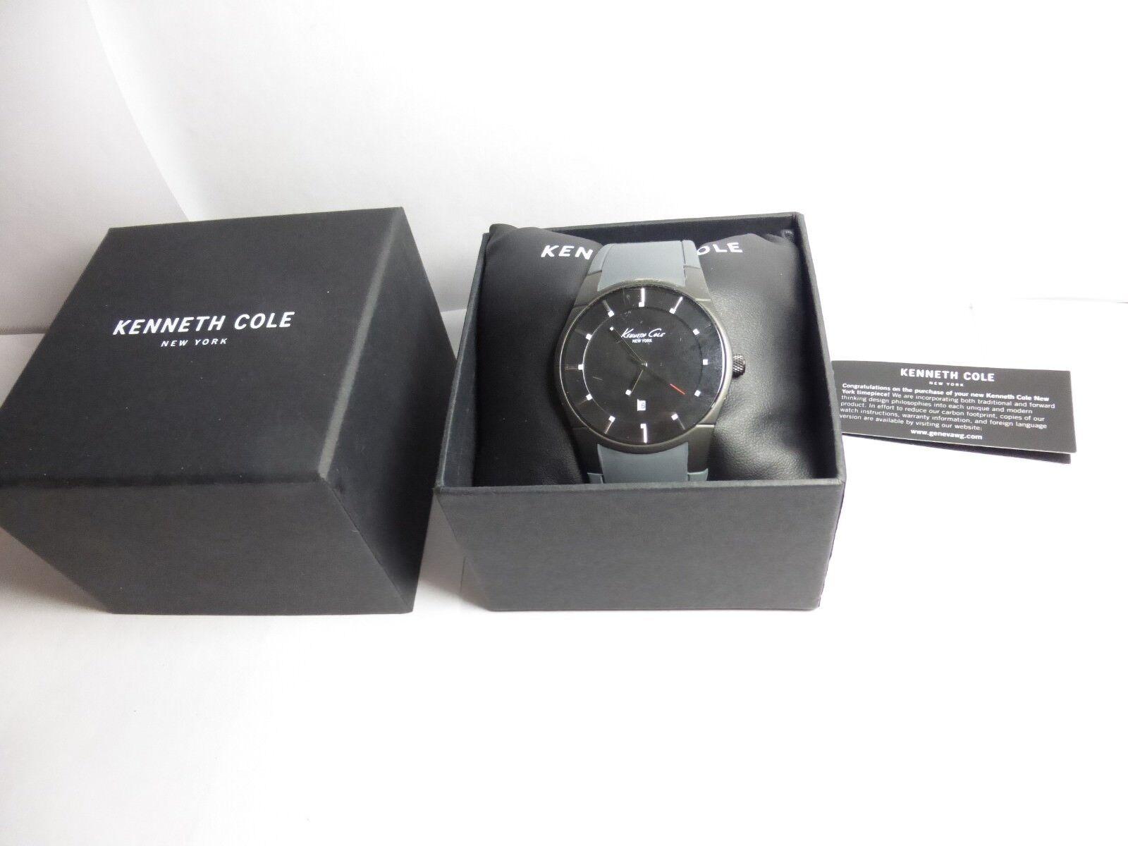 cc63146cecc Kenneth Cole Men s Slim Analog Quartz Grey Wrist Watch KC10027723 ...