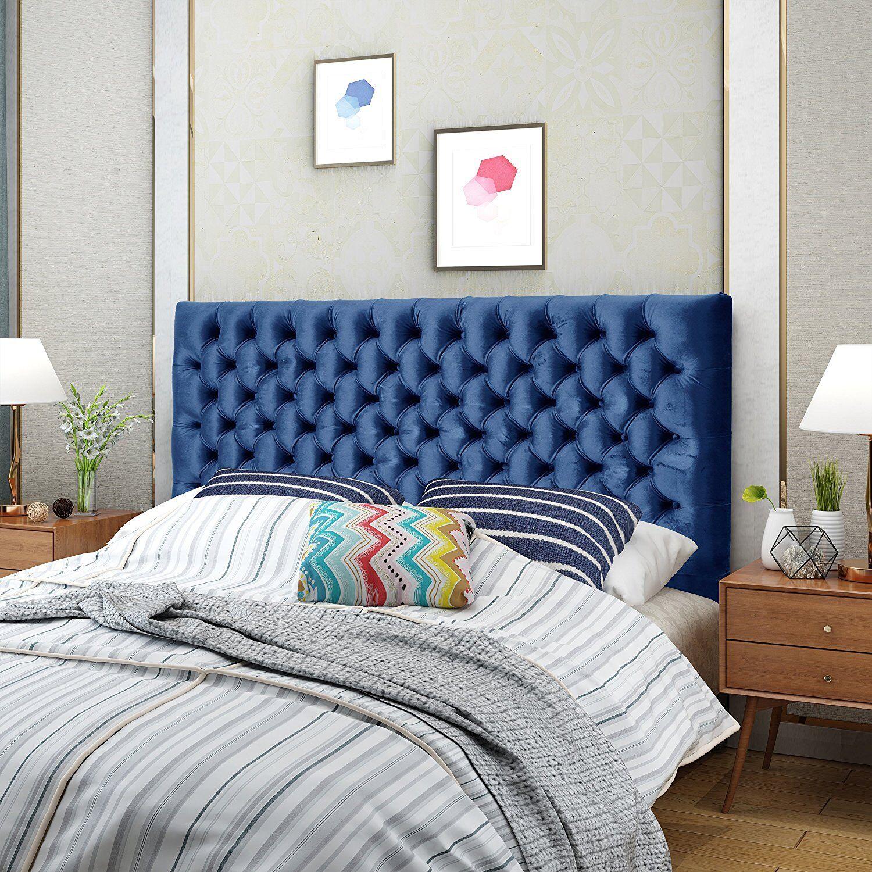 Humble Haute Halifax Velvet Sky Blue Diamond Tufted Upholstered Headboard For Sale Online Ebay