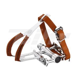 35509 pedali RETRO  piattaforma VP-189TR con fermapiedi e cinghietti in cuoio  save up to 80%