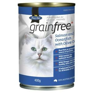 V.I.P. Fussy Cat Grainfree Salmon Oceanfish & Olive Oil Cat Food 400 gram