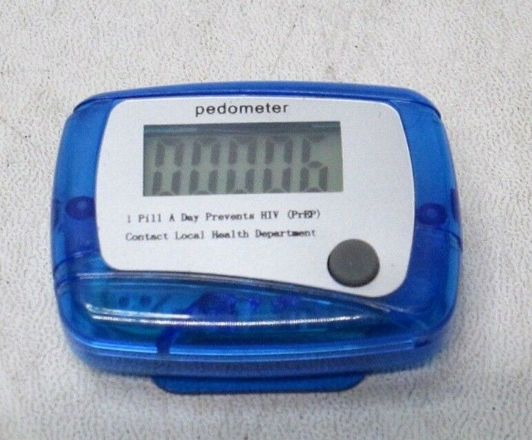 QTY. 100 Pedometer Step Counter Fitness LCD Screen Simple ABS Digital Display